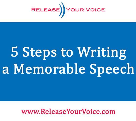 steps to write a speech